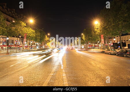 The Avenue des Champs-Elysées is probably the most famous avenue in the world. - Stock Photo