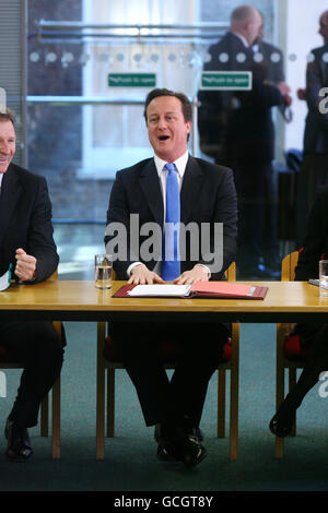 Cameron holds meeting with Permanent Secretaries from Government departments - Stock Photo