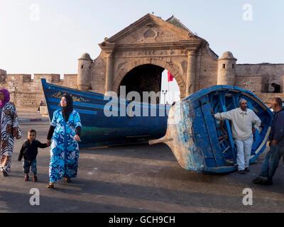 Fishing port; Essaouira, Morocco - Stock Photo