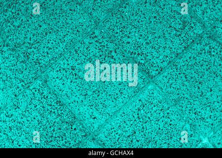 Excellent turquoise grayish gray scale stone floor backgrounds quadrangular floor plates - Stock Photo