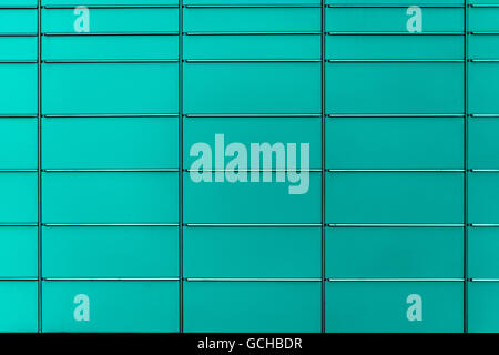 turquoise grayish gray scale colored post boxes background of even and symmetrical structure serves as decent board - Stock Photo