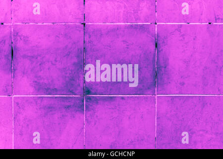 Excellent pink blue purplish turquoise bluish violet stone wall backgrounds tiles dirty underground style with gray - Stock Photo