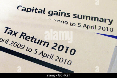 A Tax Return (Self Assessment form) and a Capital Gains summary form from HM Revenue and Customs ( HMRC ).