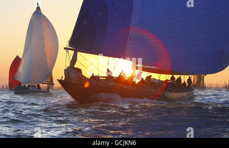 Sailing - JP Morgan Asset Management Round the Island Race - Cowes - Stock Photo