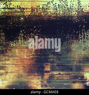 Sharp textured background, aged vintage backdrop with grungy style elements and different color patterns: yellow - Stock Photo