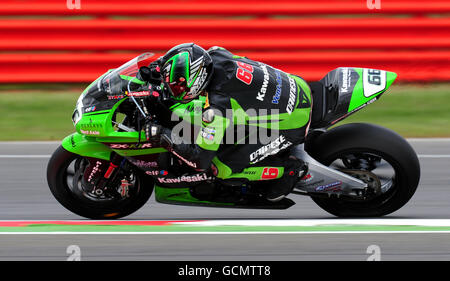 Moto Racing - World Super Bikes - British Grand Prix - Qualifying - Silverstone - Stock Photo