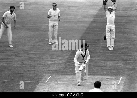 Cricket - England v Australia - Australia in British Isles 1981 (4th Test) - second day - Edgbaston, Birmingham - Stock Photo