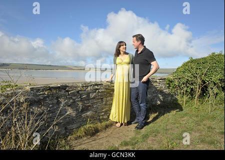 David Cameron summer holiday - Stock Photo