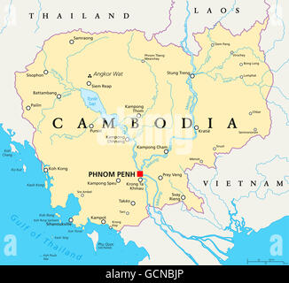 Map of Cambodia Stock Photo Royalty Free Image 136365856 Alamy