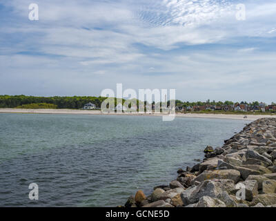 Hornbaek Beach, North Zealand, Denmark, Scandinavia - Stock Photo