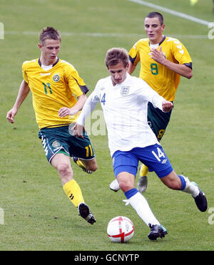 Soccer - UEFA European Under 21 Championship 2011 - England v Lithuania - Weston Homes Community Stadium - Stock Photo
