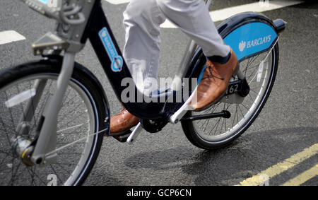 London cycle hire stock - Stock Photo