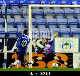 Soccer - Carling Cup - Third Round - Wigan Athletic v Preston North End - DW Stadium - Stock Photo