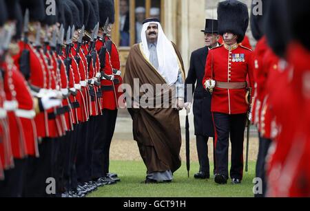 Emir of Qatar state visit - Stock Photo