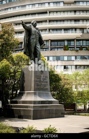 Benito Juarez Statue, Virginia & New Hampshire Avenues NW, Washington DC - Stock Photo