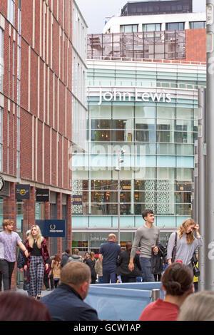 John Lewis Store, Liverpool One, Merseyside, UK - Stock Photo