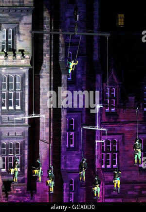 Edinburgh Christmas lights - Stock Photo