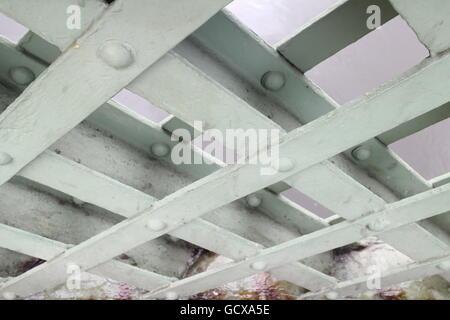 Detail of wooden walkway - Stock Photo