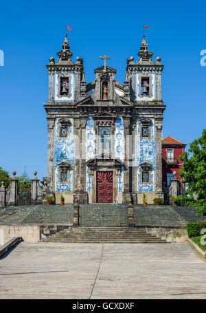Igreja de Santo Ildefonso church in Porto, Portugal - Stock Photo