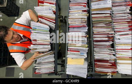 Christmas postal services - Stock Photo