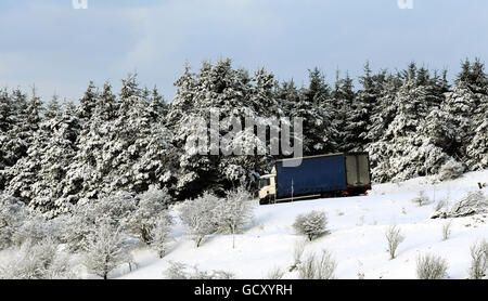 Winter weather December 16th - Stock Photo