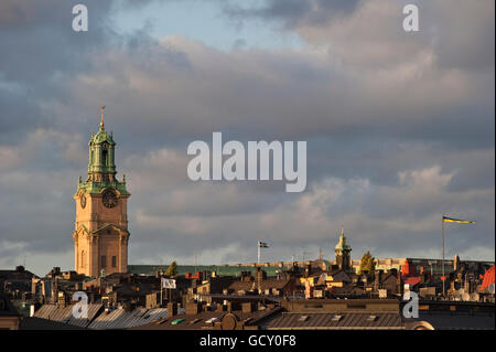 The church Storkyrkan in Old Town, Stockholm, Sweden, Europe - Stock Photo
