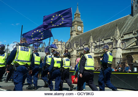Pro EU demonstation (March for Europe), after the the UK voted against membership of the EU (Brexit). 2nd July 2016, - Stock Photo