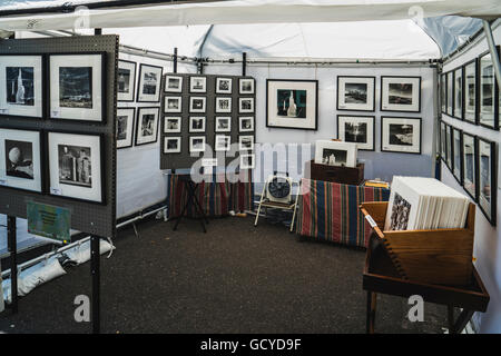 Booth at Cherry Creek Art Festival in Denver Colorado showing wonderful photography by Judith Eastburn - Stock Photo
