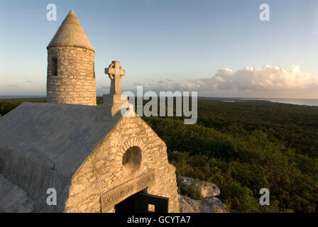 The Ermite small monastery at the top of Mount Alvernia on Cat island, over 63 meters, Bahamas. Mt. Alvernia Hermitage - Stock Photo