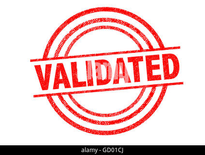 VALIDATED Rubber Stamp over a white background. - Stock Photo