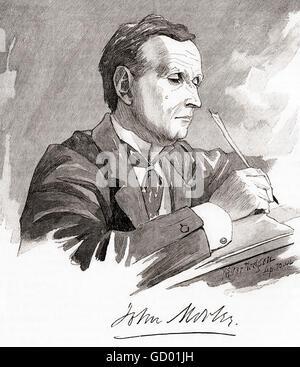 John Morley, 1st Viscount Morley of Blackburn,  1838 – 1923.  British Liberal statesman, writer and newspaper editor. - Stock Photo
