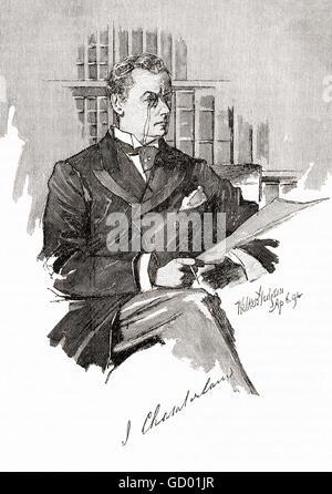 Joseph Chamberlain,  1836 – 1914.  British politician and statesman.  Father of Neville Chamberlain, Prime Minister - Stock Photo