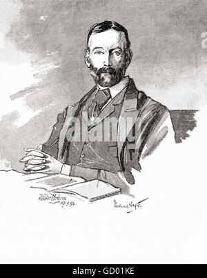 Thomas Sexton, 1848–1932.  Irish journalist, financial expert, nationalist politician,  Member of Parliament  in - Stock Photo