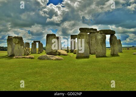 Stonehenge Against Clouds - Stock Photo