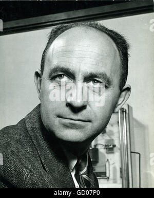 Enrico Fermi (1901-1954), Italian physicist, winner of a Nobel Prize in 1938 and exiled by Mussolini in 1939. He - Stock Photo