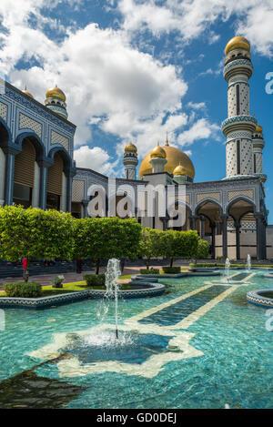 Jame'Asr Hassanil Bolkiah Mosque in Bandar Seri Begawan, Brunei. - Stock Photo
