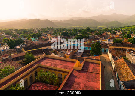 Late afternoon over Trinidad, Cuba. - Stock Photo