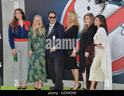 Los Angeles, California, USA. July 9, 2016. Actor Dan Aykroyd & wife Donna Dixon & family at the Los Angeles premiere - Stock Photo