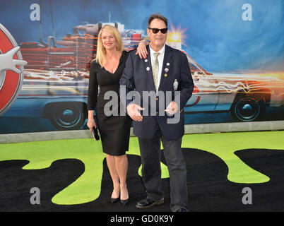 Los Angeles, California, USA. July 9, 2016. Actor Dan Aykroyd & wife Donna Dixon at the Los Angeles premiere of - Stock Photo