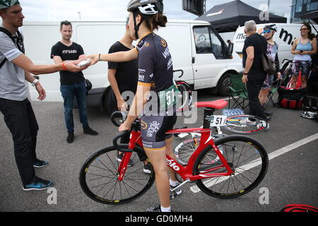 Red Hook Crit 2016 Fixed Gear Sigle Speed Bikes Cycling Criteriu - Stock Photo