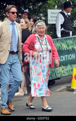 London, UK. 09th July, 2016. Arrivals at Center Court on the last day of the 2016 tournament for the men's singles - Stock Photo