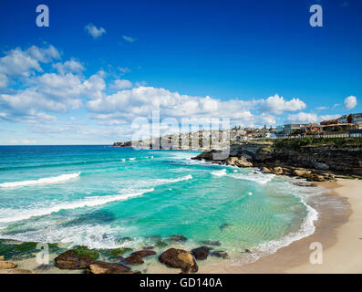 tamarama beach view near bondi on sydney australia coast - Stock Photo