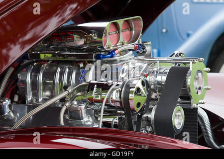 High power drag racing V8 BDS engine - Stock Photo