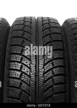 Winter car tire tread - Stock Photo