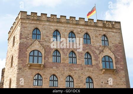 Hambach Castle near Neustadt an der Weinstrasse, German Wine Route, Palatinate region, Rhineland-Palatinate - Stock Photo