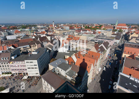 Cityscape, view from Perlach Tower, Augsburg, Bavaria - Stock Photo