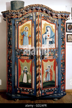 habitation, furniture, cabinets, dowry cabinet, 1823, Additional-Rights-Clearences-NA - Stock Photo