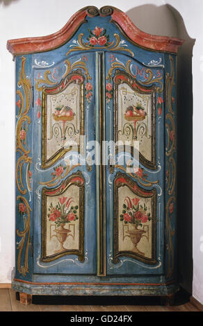habitation, furniture, cabinets, rural cabinet, Aibling, circa 1830/1840, Additional-Rights-Clearences-NA - Stock Photo