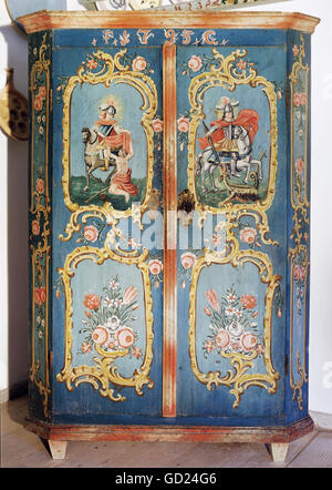 habitation, furniture, cabinets, rural cabinet, Inn Valley, 1793, Additional-Rights-Clearences-NA - Stock Photo