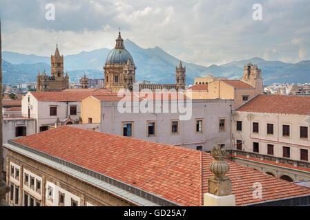 Cityscape, Palermo, Sicily, Italy, Europe - Stock Photo